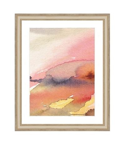 Watercolor Pink Abstract Framed Giclée Print