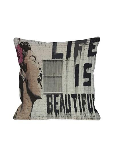 Banksy Life is Beautiful Pillow