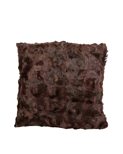 Upcycled Cowhide Pillow, Brown/Black, 18 x 18