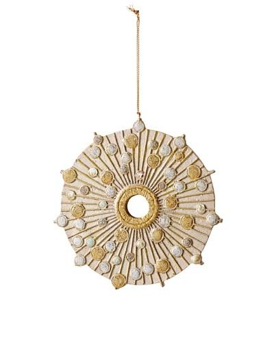 Two-Tone Round Mirror Design Ornament