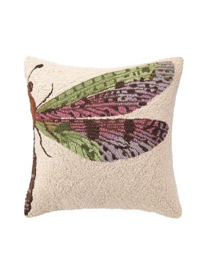 Hook Pillow, Pink Dragonfly, 18 x 18