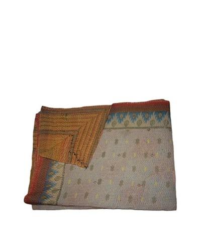 Large Vintage Parul Kantha Throw, Multi, 60 x 90