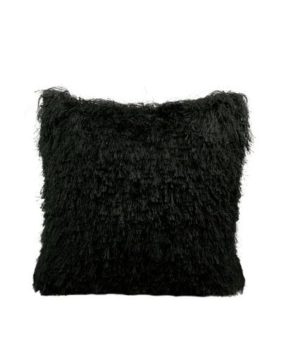 Joseph Abboud Soft Shag Pillow, Black, 20 x 20
