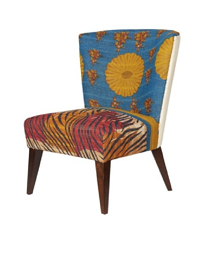Kantha Arm Chair, Blue Multi