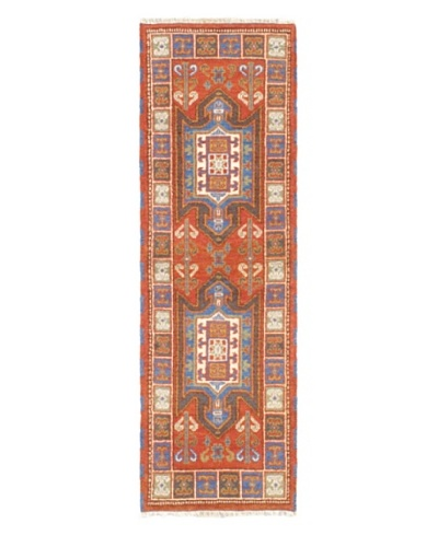 Hand-Knotted Royal Kazak Wool Rug, Copper, 2' 1 x 6' 7 Runner