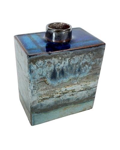 Mid-Century Vase, Brown/Blue/Turquoise