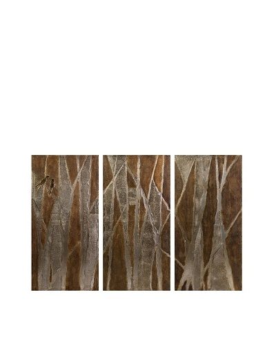 Set of 3 Torres Modern Forest Oils on Canvas