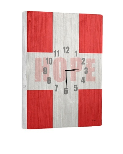 Hope Reclaimed Wood Clock