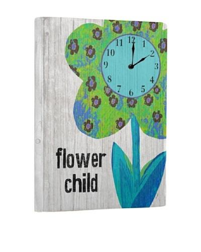 Flower Child Reclaimed Wood Clock