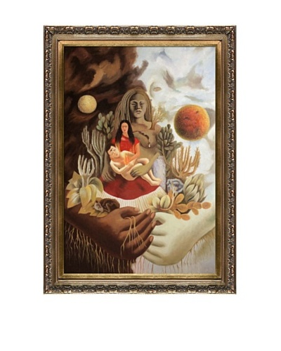 Frida Kahlo's The Love Embrace of the Universe, the Earth, Myself, Diego and Senor Xolotl Framed R...