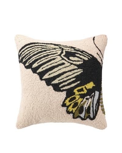 Hook Pillow, Yellow Butterfly, 18 x 18