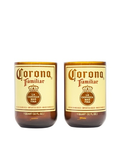 Set of 2 Corona Familiar Beer Tumblers
