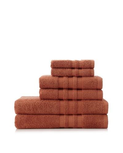 6-Piece Bath Towel Set, Terracotta