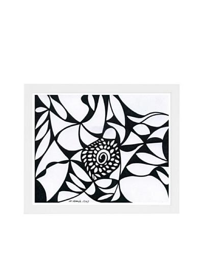 Manuel Roman Blossom Framed Art, Black/White