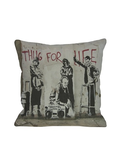 Banksy Thug for Life I Pillow