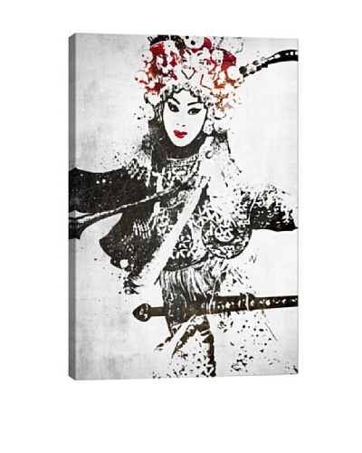 Traditional Warrior by DarkLord Giclée Canvas Print