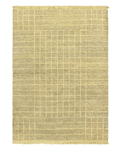 Hand-Knotted Marrakech Rug, Gray, 4' 7 x 6' 7