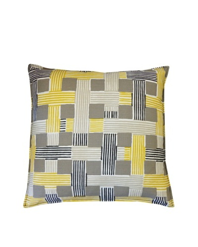 On The Move Throw Pillow, Yellow