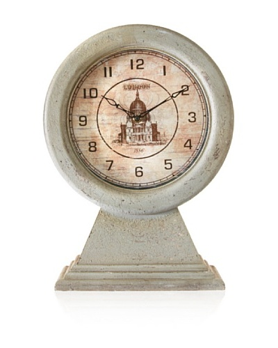 Distressed Wooden Clock