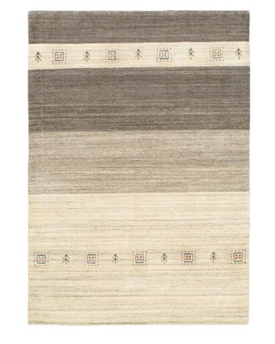 Luribaft Gabbeh Riz Modern Rug, Light Grey, 4' 1 x 5' 9