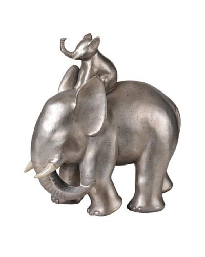 Bonding Elephant, Silver Leaf
