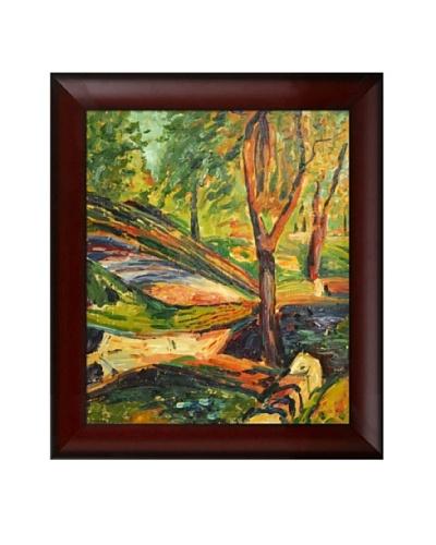 "Oil Reproduction of Alfred Maurer's ""Fenced Landscape,"" 1910-1912"