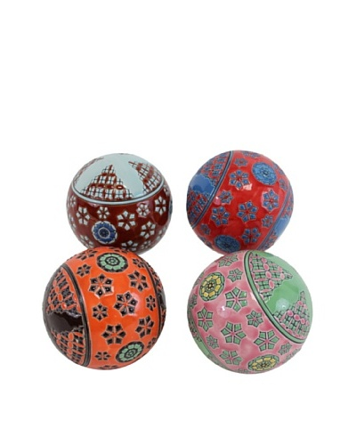 Set of 4 Decorative Filler Balls, AssortedAs You See