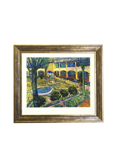 Vincent Van Gogh The Courtyard of the Hospital at Arles Limited Edition Giclée