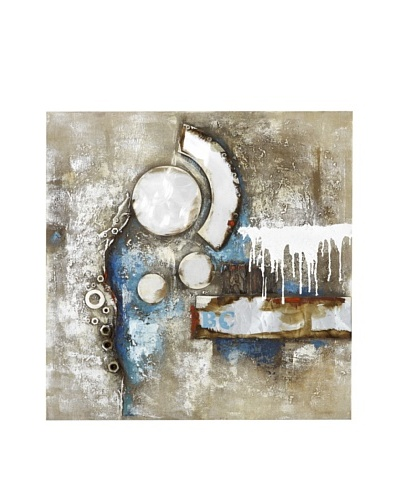 Nuts and Bolts Abstract Hand-Painted Canvas Art