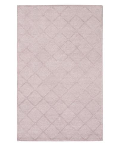 Handmade Amelia Rug, Light Pink, 4' 11 x 7' 9