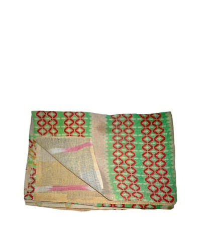 "Vintage Lalima Kantha Throw, Multi, 60"" x 90"""