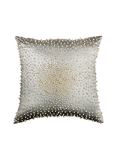 "Cosmos Pearl Pillow, Silver/White, 18"" x 18""As You See"