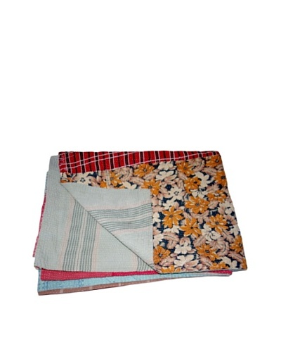 Vintage Hema Kantha Throw, Multi, 60 x 90