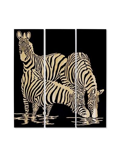 Set of 3 Zebra Wall Decor
