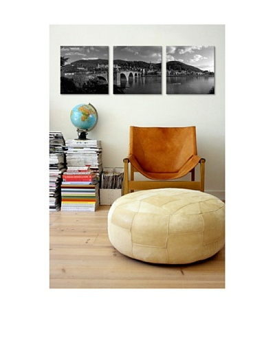 Bridge in Heidelberg, Germany Giclée Canvas Print Triptych