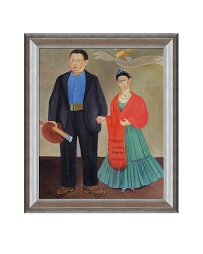Frida Kahlo's Frida and Diego Rivera Framed Reproduction Oil Painting
