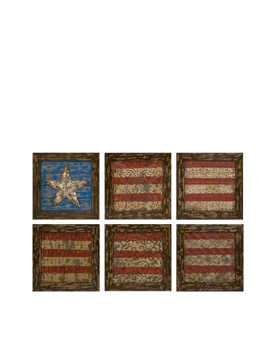 Set of 6 Glory American Flag Wall Decor