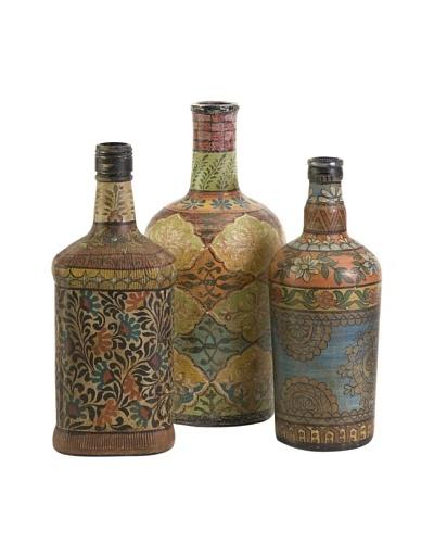 Set of 3 Circus Bottles