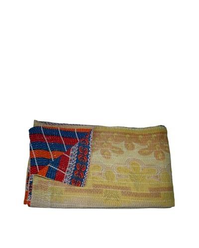 Vintage Chanda Kantha Throw, Multi, 60 x 90