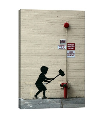 Banksy Hammer Boy Canvas Print