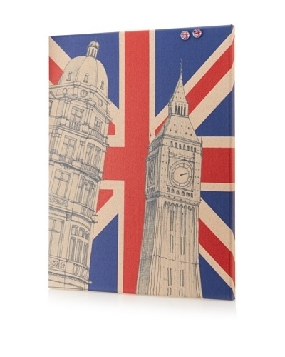 Sunjin Big Ben Flag Giclee on Cork Board