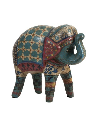 Indigo Hand Painted Elephant