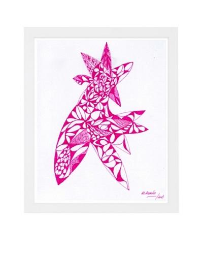 Manuel Roman Agri Rosea Framed Art, Pink/White