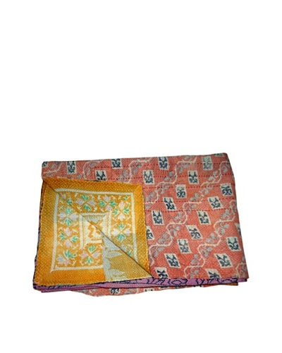Vintage Karishma Kantha Throw, Multi, 60 x 90