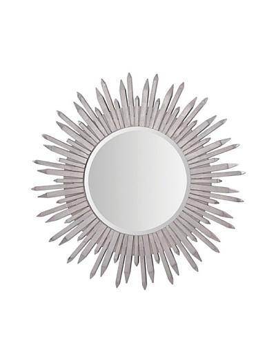 Fanned Silver Leaf Mirror