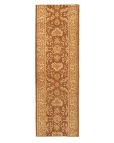 "Lotus Garden Traditional Rug, Brown, 2' 8"" x 8' Runner"