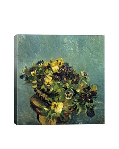 Vincent Van Gogh Basket of Pansies on the Table Giclée Canvas Print