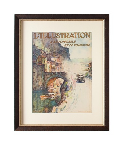 Original French L'Illustration Magazine Cover by Montagne, 1926
