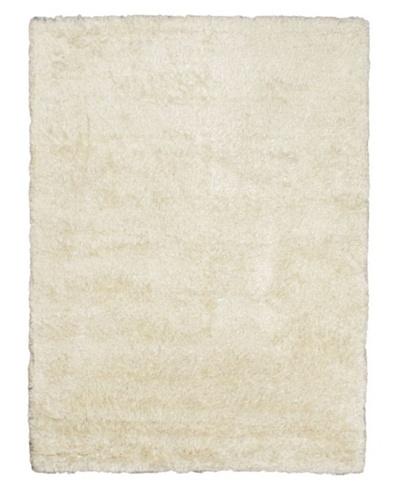 Hand-Knotted Casablanca Retro Shag Rug, White, 6' 3 x 8' 10