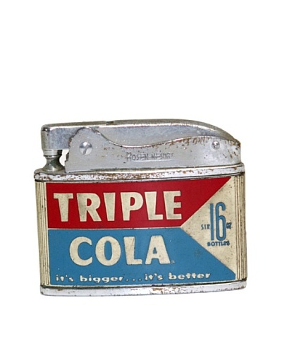 Vintage Circa 1950's Triple Cola 16-Oz Bottles Advertisement Lighter